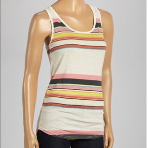 Striped zip back tank