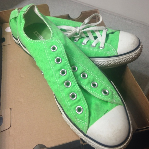 d2263a6110422e Converse Shoes - Neon green chuck Taylor low top
