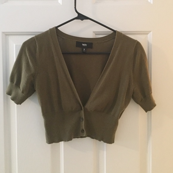 70% off Mossimo Supply Co. Sweaters - Olive green cropped cardigan ...