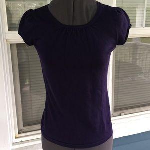Ann Taylor Sweaters - ANN TAYLOR Petites Dark Purple Sweater Top