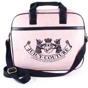 Juicy Couture Pink Messenger Computer Handbag 13.3