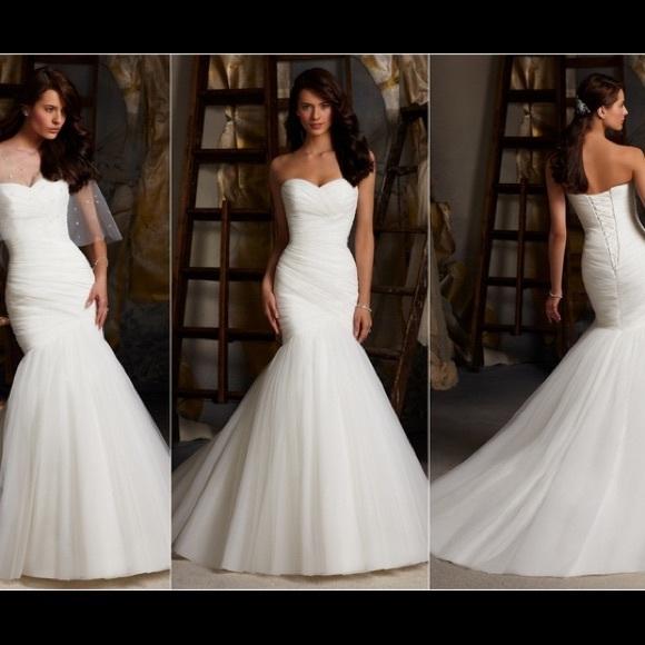 8b669c57ff0 Mori Lee 5108 Ivory Wedding Dress. M 5681ab91bcd4a76036006c67