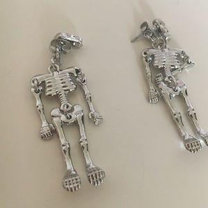 Dangling Skelton earrings