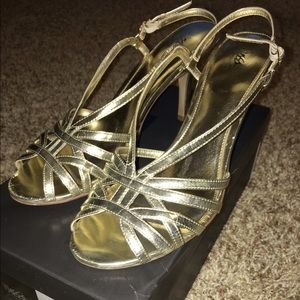 Mossimo Gold Strappy Heels