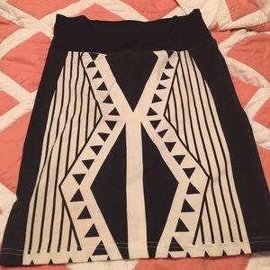High waisted tight skirt