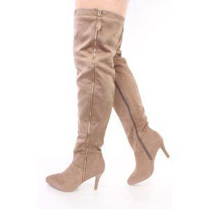 Shoes - Thigh High Tan Boots