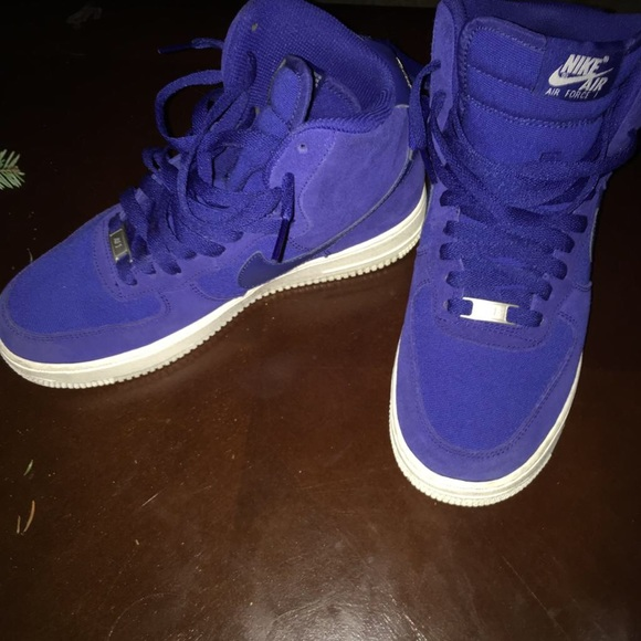 Nike Midnight Blue Air Force Ones high tops 25e6d590d