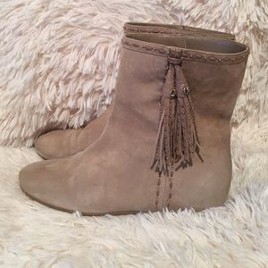Christian Dior suede tassel booties.authentic !