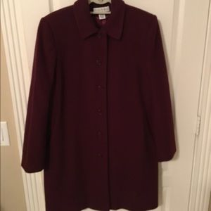 Preston & York Jackets & Blazers - Burgundy Wool Coat