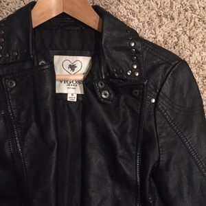 Small Black Leather Moto Jacket
