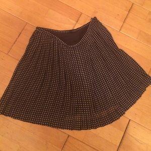 Madewell pleated chiffon skirt