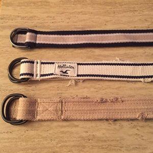 Hollister Other - Bundle of Men Belts