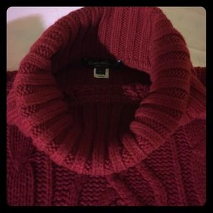 Eddie Bauer cable turtle neck sweater
