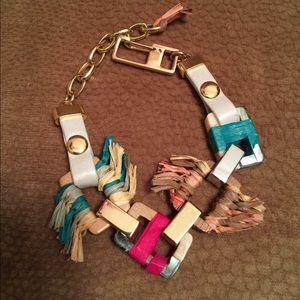 Stylish Gold and Wooden Bracelet NWOT