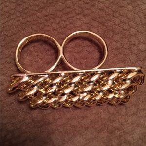 Stylish Gold Ring NWOT