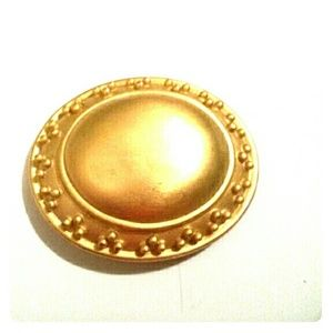 Vintage large gold brooch