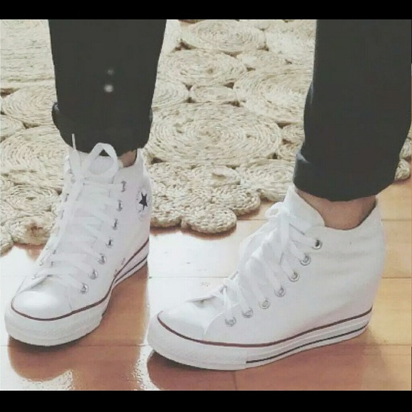 7c4fcaae2c1 CONVERSE Chuck Taylor leather wedge sneakers