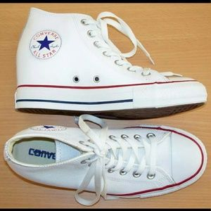 Converse Shoes - CONVERSE Chuck Taylor leather wedge sneakers 4c8342acf