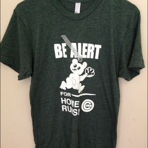 Green American Apparel shirt size Large for Cubs