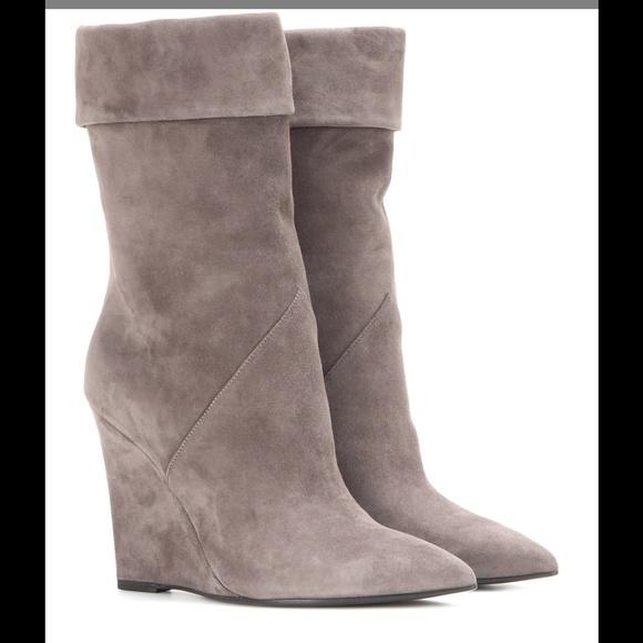 1e95b6a81ea Saint Laurent Shoes   Suede Wedge Boots   Poshmark