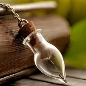 Jewelry - Real dandelion seed necklace