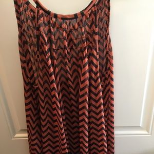 Orange & Black Chevron dress