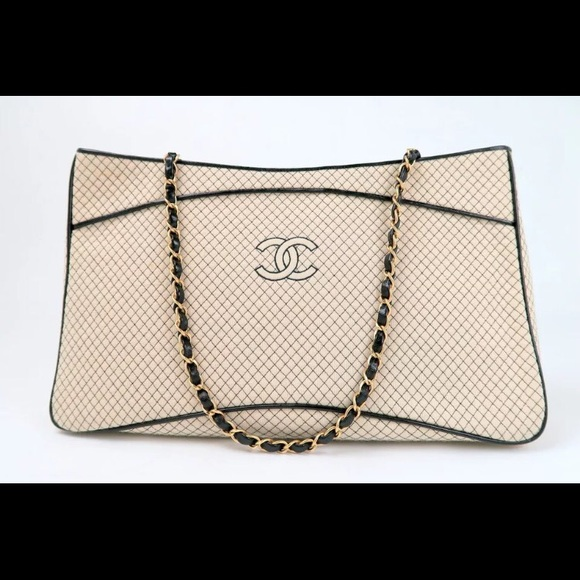 7afa77db43 CHANEL Bags | Sold On Tradesy Beige Quilted Cotton Tote | Poshmark