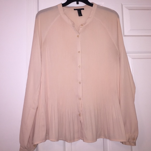 71 Off Forever 21 Tops Light Pink Blouse Button Down
