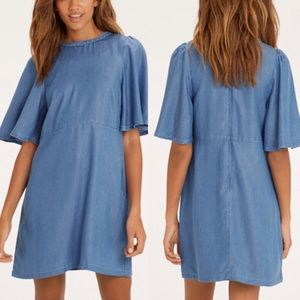 MOVING SALE❗️Denim Flutter Sleeve Dress