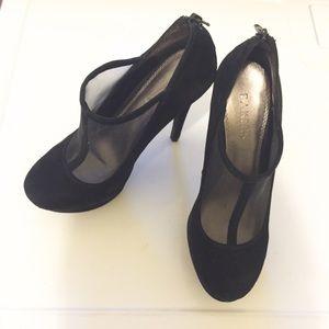 Bakers Shoes - Bakers Black Platform Heels
