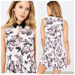 Urban Outfitters Dresses & Skirts - Kimchi Blue Rose Printed Collared Keyhole Dress