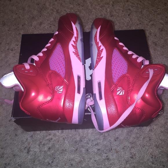 42f386b873fd3f Jordan Shoes - Authentic Girls Air Jordan 5 Retro (GS) Size  6Y