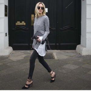 Zara suede heels with straps