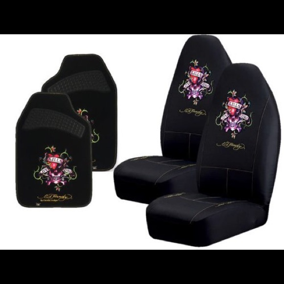 75 off other ed hardy seat covers from kelsey 39 s closet on poshmark. Black Bedroom Furniture Sets. Home Design Ideas
