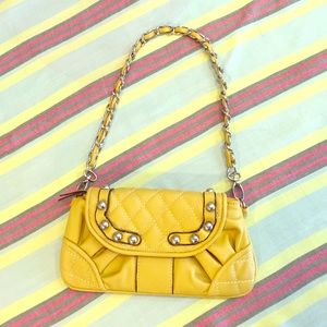 None Handbags - Yellow Clutch Purse