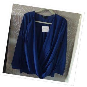 Tops - Twist front drape top