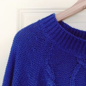 Oversized Blue Knit Sweater