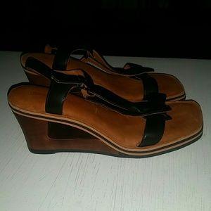 Gentle souls sandals wedge