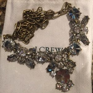J. CREW statement necklace- gold and crystal