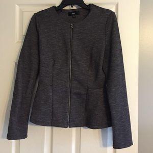 Gray peplum style jacket blazer