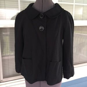 Allison Taylor Jackets & Blazers - ALLISON TAYLOR Black Swing Jacket