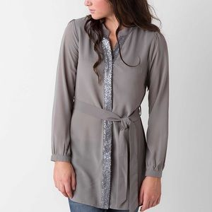 Buckle Tops - ❌‼️SOLD‼️❌Sequined Chiffon Tunic