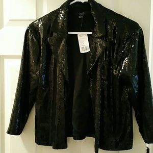black sequin jacket forever 21 on Poshmark