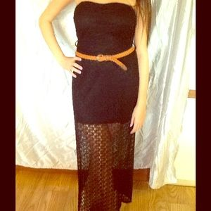 Never Worn Ya Strapless Illusion Long Dress