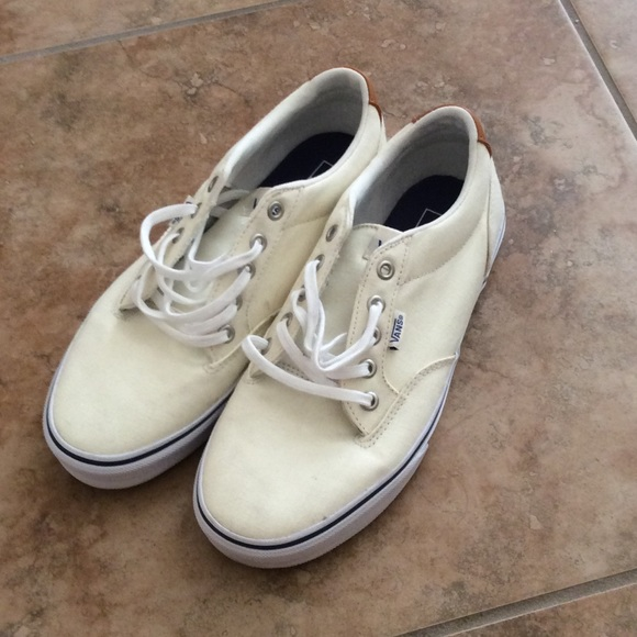 vans shoes cream