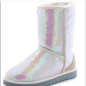Brand new sparkle white boots