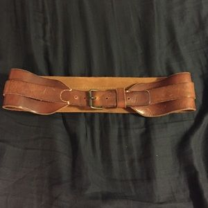 Lanvin Accessories - Lanvin Vintage Leather Belt 3 inches wide