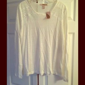 Forever 21 Tops - Forever 21 Tunic, Semi-Sheer, Lace inlet, Large