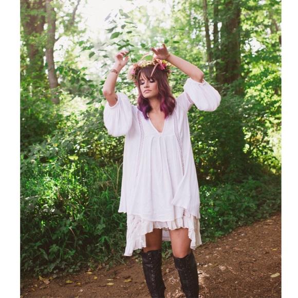 58be21e35520 Free People Dresses | Babydoll Lace Inset Swing Tunic | Poshmark