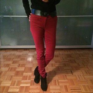 James Jeans Denim - Oxblood red James skinny jeans